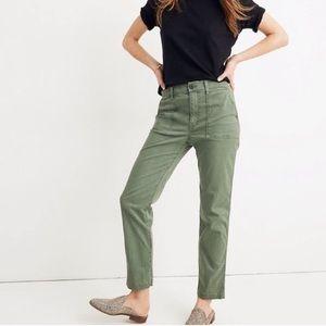 Madewell Stovepipe Fatigue Pants Sage Green